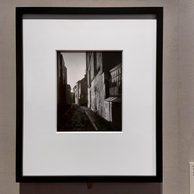 Eugène Atget (French, 1857-1927) 'Rue St. Rustique' March 1922 (installation view)