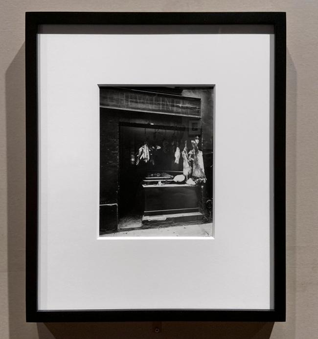 Eugène Atget (French, 1857-1927) 'Butcher's shop, Rue Christine' c. 1923 (installation view)