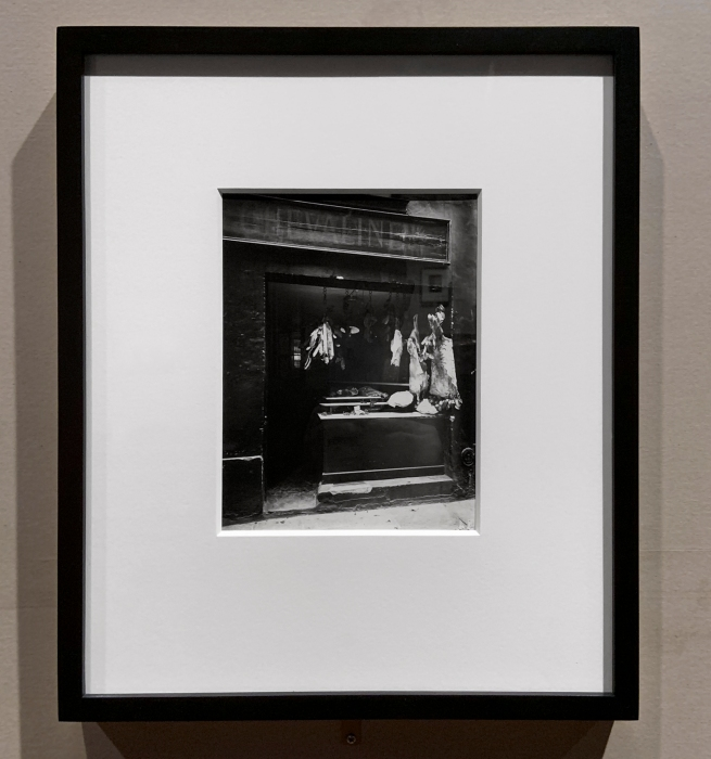 Eugène Atget (French, 1857-1927) 'Butcher's shop, Rue Christine' c. 1923 (installation view)