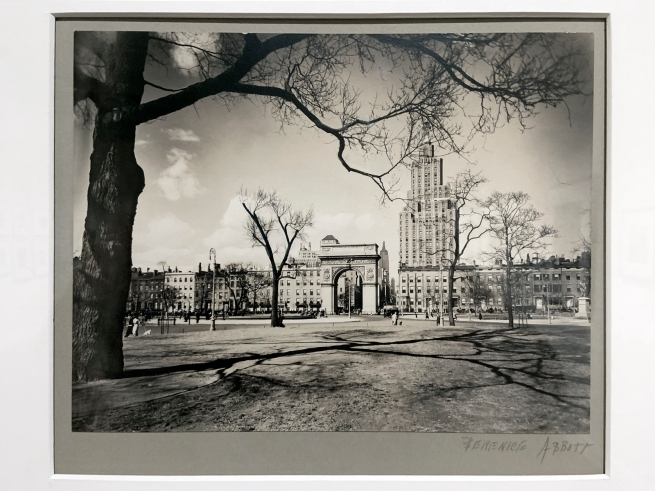 Berenice Abbott (American, 1898-1991) 'Washington Square, looking north' April 16, 1936 (installation view)