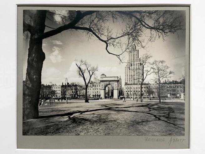 Berenice Abbott (American, 1898-1991) 'Washington Square, looking north' April 16, 1936 (installation view)