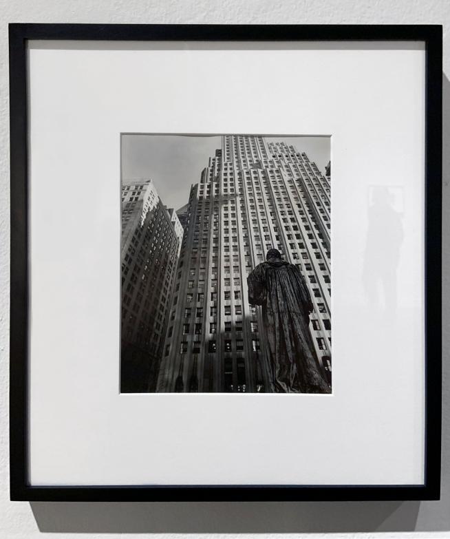 Berenice Abbott (American, 1898-1991) 'From Trinity Church Yard' March 1, 1938 (installation view)