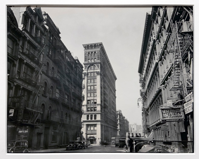 Berenice Abbott (American, 1898-1991) 'Broadway near Broome Street, Manhattan' 1935 (installation view)
