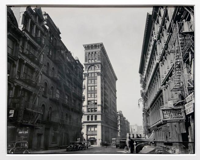 Berenice Abbott (American, 1898-1991) 'Broadway near Broome Street, Manhattan' 1935 (installation view)