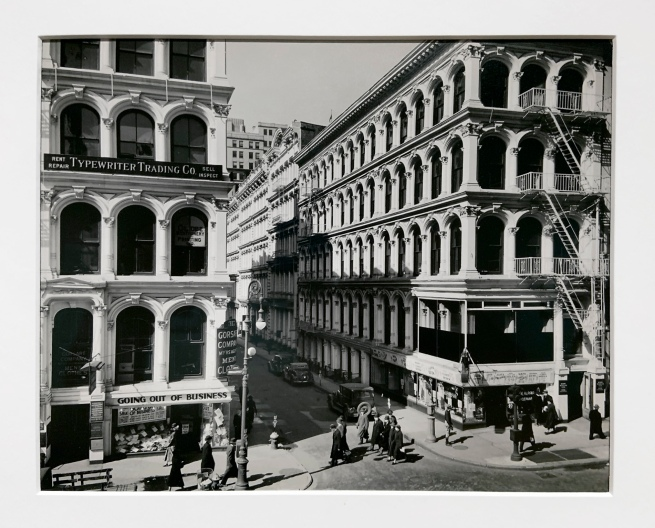 Berenice Abbott (American, 1898-1991) Broadway and Thomas Street 1936 (installation view)