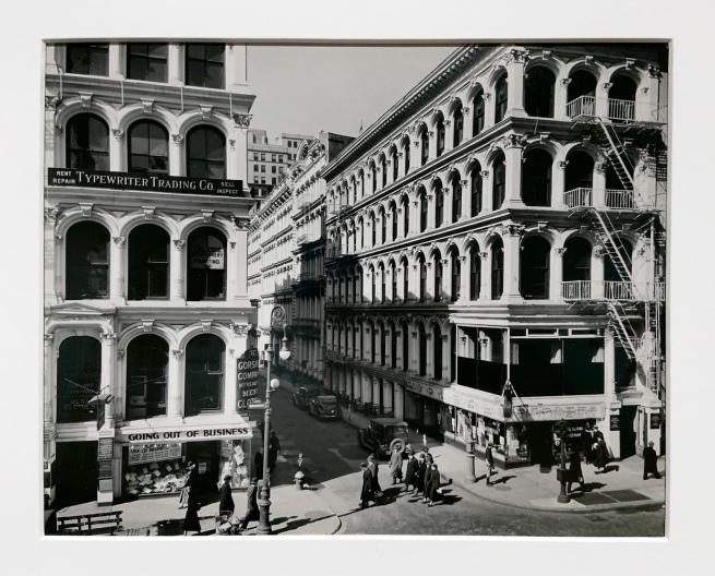 Berenice Abbott (American, 1898-1991) Broadway and Thomas Street 1936 (installation view)