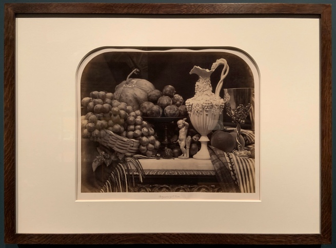 Roger Fenton (British, 1819-69) 'Parian Vase, Grapes and Silver Cup' 1860