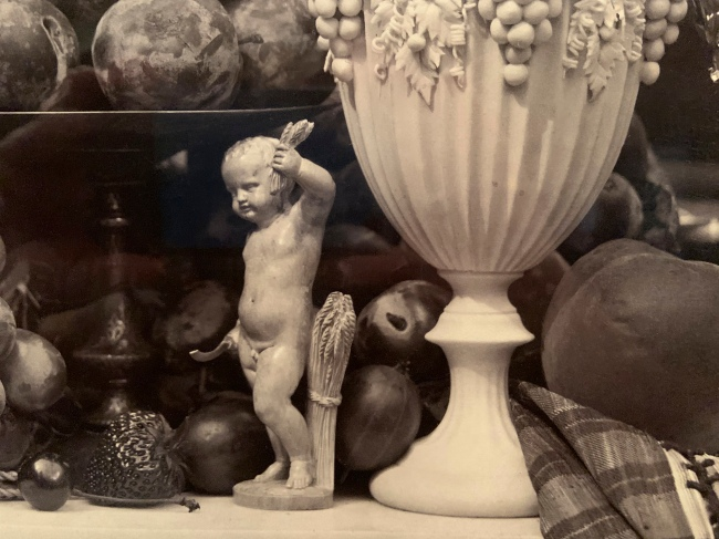Roger Fenton (British, 1819-69) 'Parian Vase, Grapes and Silver Cup' 1860 (detail)