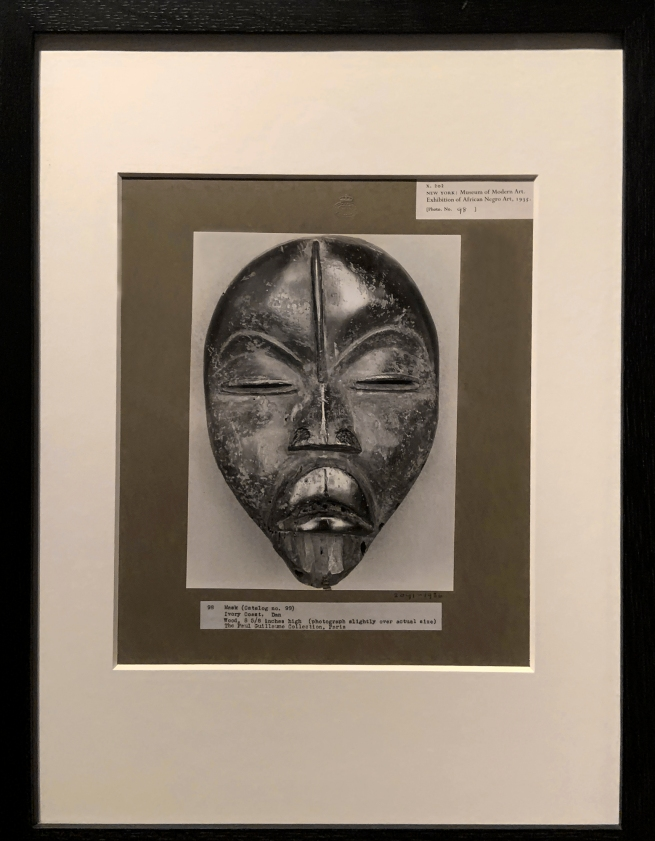 Walker Evans (American, 1903-75) 'Photograph of African mask, from an exhibition entitled African Negro Art at the Museum of Modern Art, New York' 1935