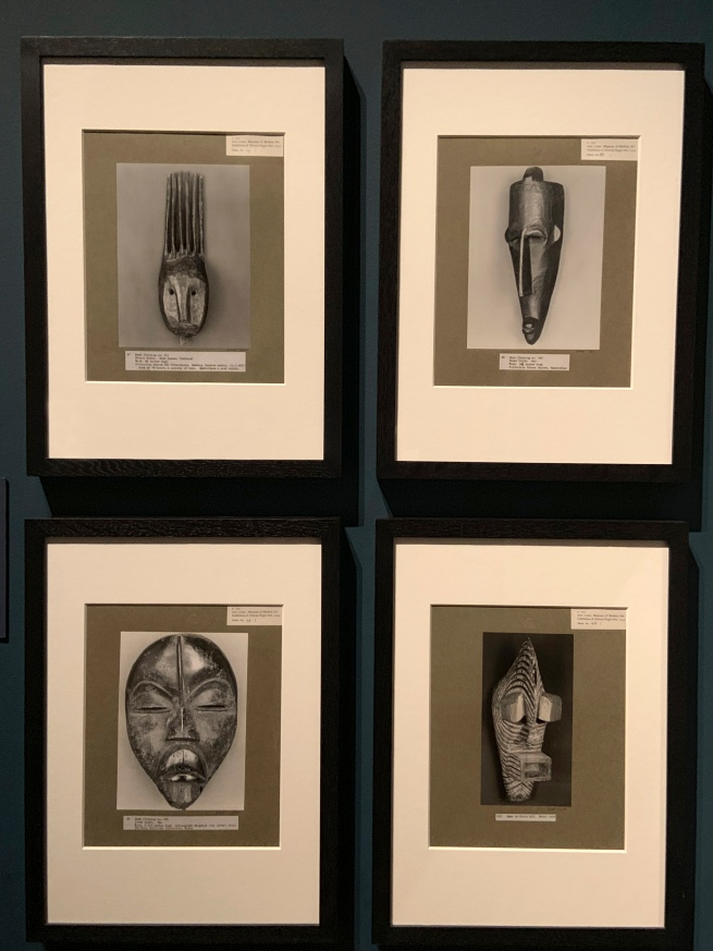 Walker Evans (American, 1903-75) 'Photographs of African masks, from an exhibition entitled African Negro Art at the Museum of Modern Art, New York' 1935