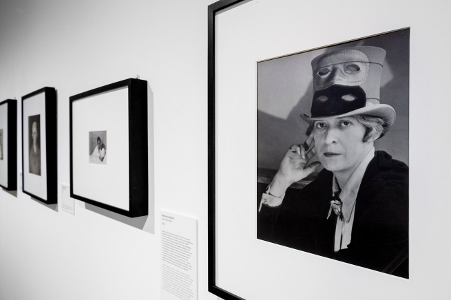 Installation view of the exhibition 'Berenice Abbott: Portraits of Modernity' at Huis Marseille, Amsterdam showing the exhibition 'Janet Flanner in Paris',1927
