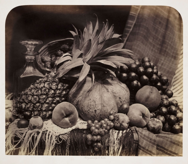 Roger Fenton (British, 1819-69) 'Still Life with Fruit and Decanter' 1860