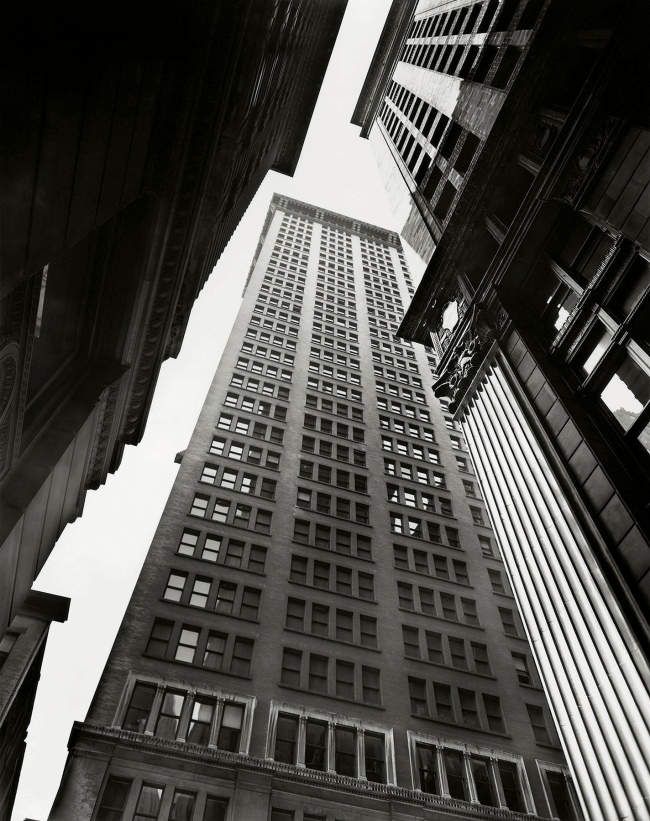 Berenice Abbott (American, 1898-1991) 'Canyon: Broadway and Exchange Place' July 16, 1936