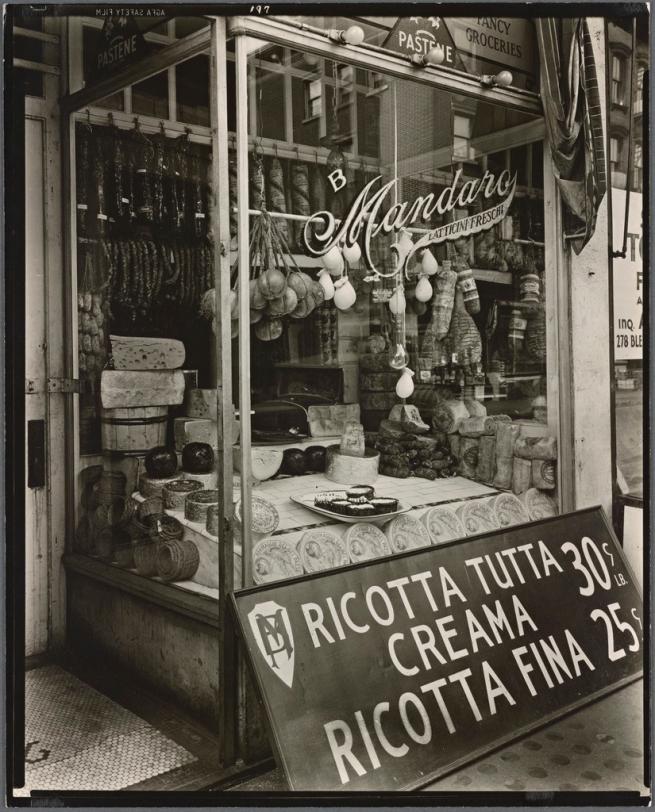 Berenice Abbott (American, 1898-1991) 'Cheese Store, 276 Bleecker Street, Manhattan' 1937