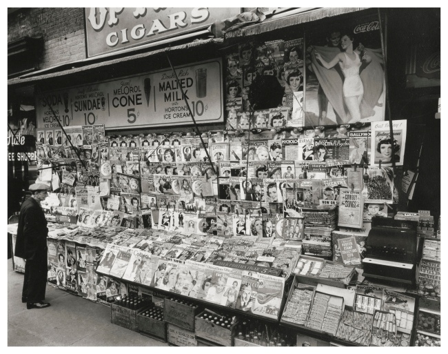 Berenice Abbott (American, 1898-1991) 'Newsstand, 32nd Street and 3rd Avenue, Manhattan' 1935