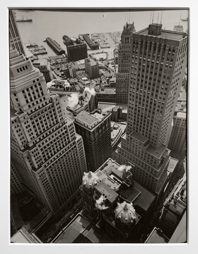 Berenice Abbott (American, 1898-1991) 'Waterfront, from roof of Irving Trust Company Building' 1938 (installation view)