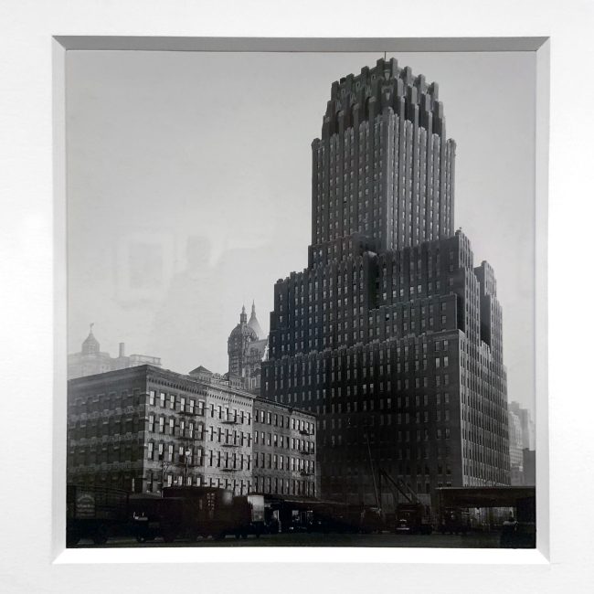 Berenice Abbott (American, 1898-1991) 'New York Telephone Company's Lower Broadway Building' 1930-31 (installation view)