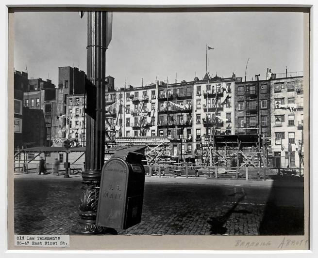 Berenice Abbott (American, 1898-1991) 'Old Law Tenements, 35-47 East 1st Street' February 11, 1937 (installation view)