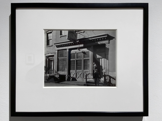 Berenice Abbott (American, 1898-1991) 'Provincetown Playhouse, 133 MacDougal Street, Manhattan' December 29, 1936 (installation view)