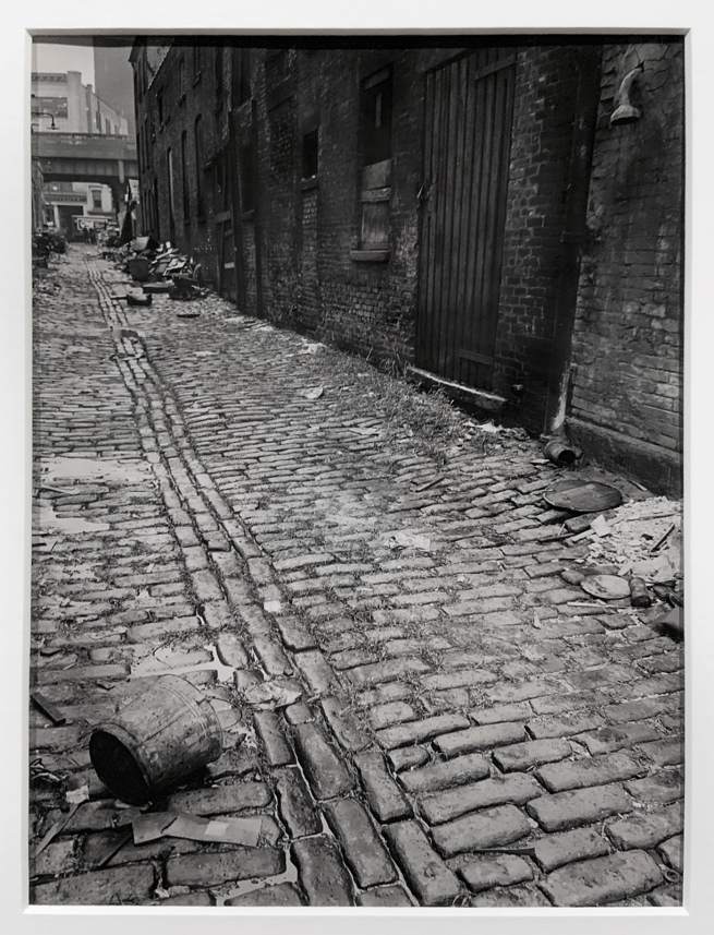 Berenice Abbott (American, 1898-1991) 'Charles Lane, between West and Washington Street' September 20, 1938 (installation view)