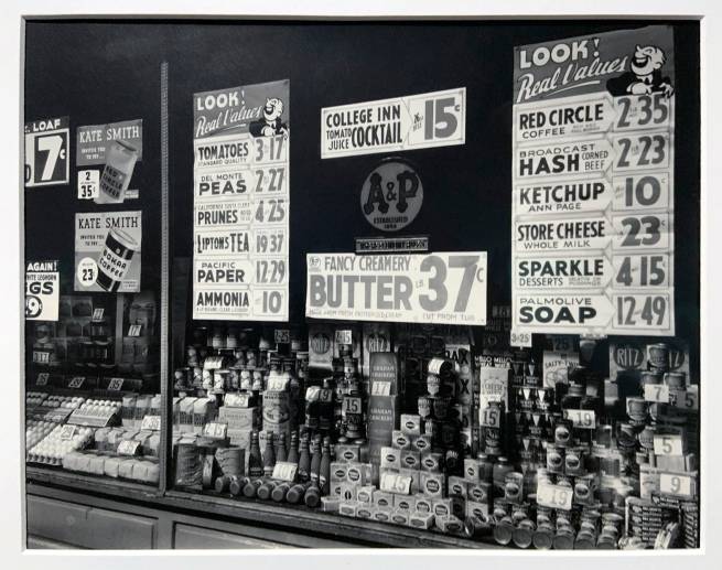 Berenice Abbott (American, 1898-1991) 'A & P (Great Atlantic & Pacific Tea Co.), 246 3rd Avenue, Manhattan' 1936 (installation view)