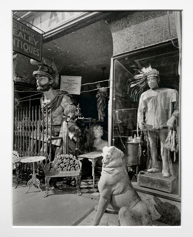 Berenice Abbott (American, 1898-1991) 'Sumner Healey Antique Shop, 942 3rd Avenue and 57th Street, Manhattan' 1936 (installation view)