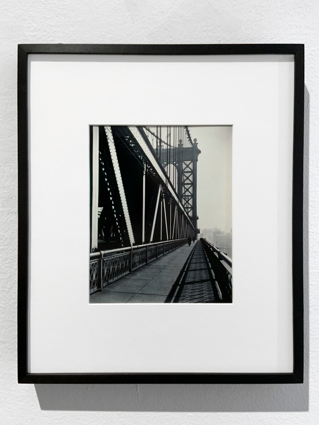 Berenice Abbott (American, 1898-1991) 'Manhattan Bridge, Manhattan' 1935 (installation view)