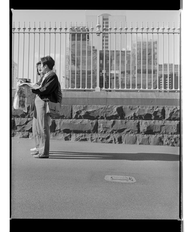 Marcus Bunyan(Australian, born England 1958) 'Padlocks/People' 1995-96
