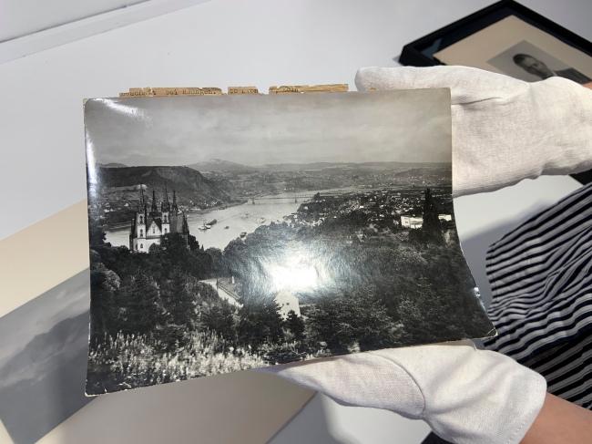 August Sander (German, 1876-1964) 'Untitled [Remagen Bridge on the Rhine]' c. 1930