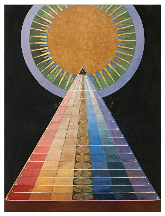 Hilma af Klint (Swedish, 1862-1944) 'Altarpiece Grupp X, No. 1' 1915