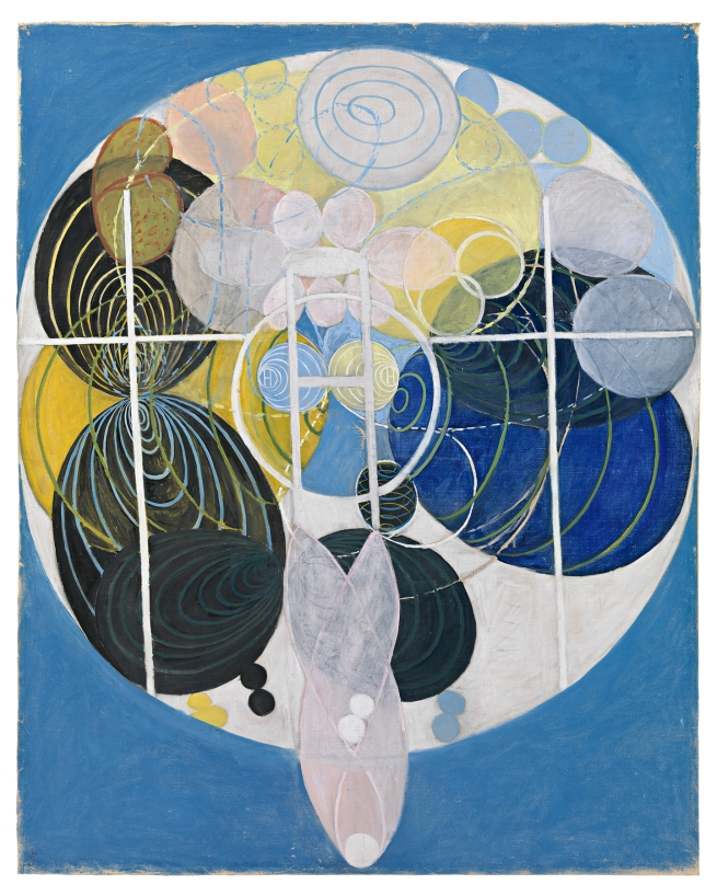 Hilma af Klint (Swedish, 1862-1944) 'The Large Figure Paintings, No. 5' 1907