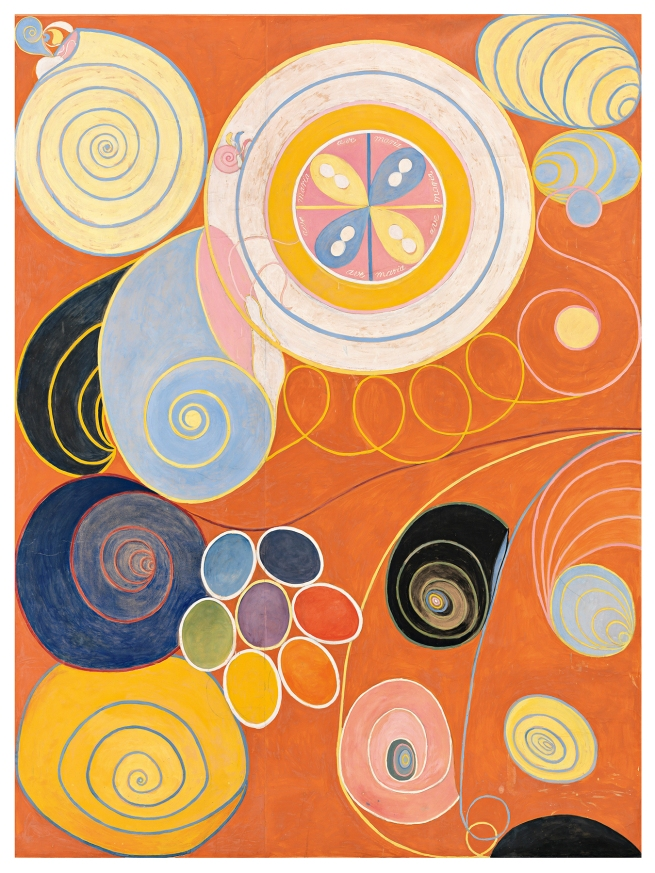 Hilma af Klint (Swedish, 1862-1944) 'The Ten Largest, No. 3, Youth' 1907
