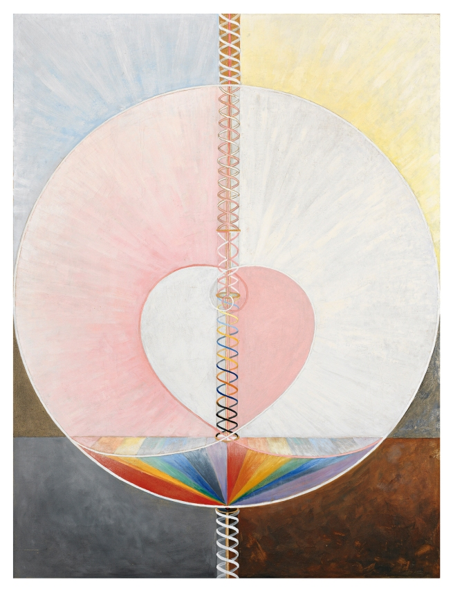 Hilma af Klint (Swedish, 1862-1944) 'Serie SUW/UW, Grupp IX/UW, nr 25, The Dove, No. 1' 1915