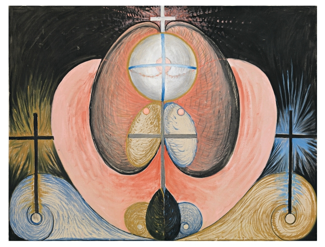 Hilma af Klint (Swedish, 1862-1944) 'Group VI, The Evolution, No. 10' 1908