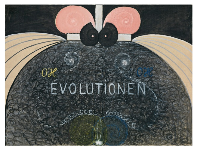 Hilma af Klint (Swedish, 1862-1944) 'Group VI, The Evolution, No. 7' 1908