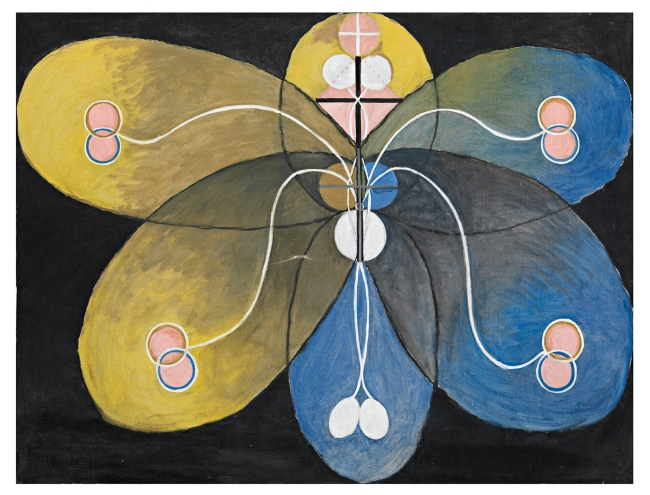Hilma af Klint (Swedish, 1862-1944) 'Group VI, The Evolution, No. 9' 1908