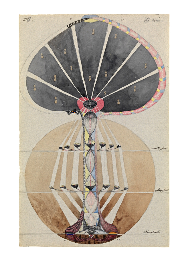 Hilma af Klint (Swedish, 1862-1944) 'Tree of Knowledge, No. 3' 1915