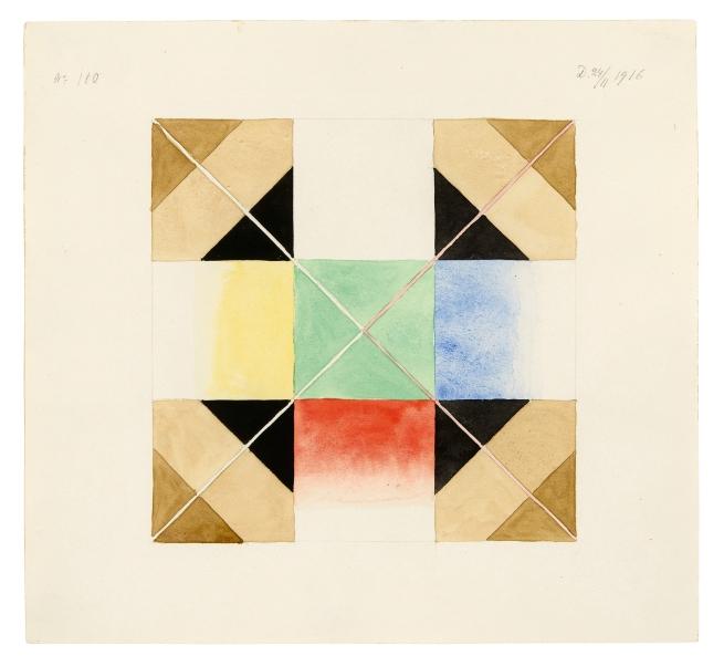 Hilma af Klint (Swedish, 1862-1944) 'Parsifal Grupp III, No. 110' 1916