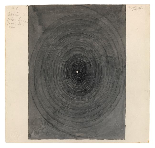Hilma af Klint (Swedish, 1862-1944) 'Parsifal Grupp I, No. 1' 1916