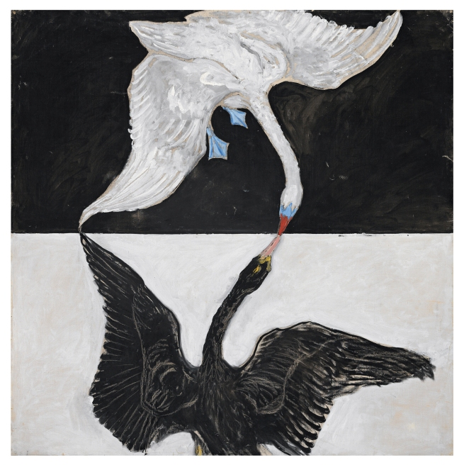 Hilma af Klint (Swedish, 1862-1944) 'Serie SUW/UW, Grupp IX/SUW, nr 1., The Swan, No. 1' 1915