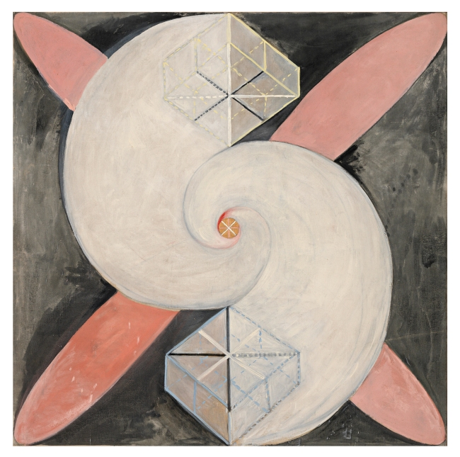 Hilma af Klint (Swedish, 1862-1944) 'Serie SUW/UW, Grupp IX/SUW, The Swan, No. 21' 1915