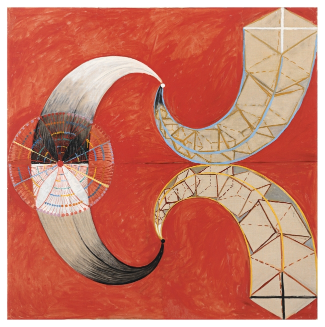 Hilma af Klint (Swedish, 1862-1944) 'Serie SUW/UW, Grupp IX/SUW, The Swan, No. 9' 1915