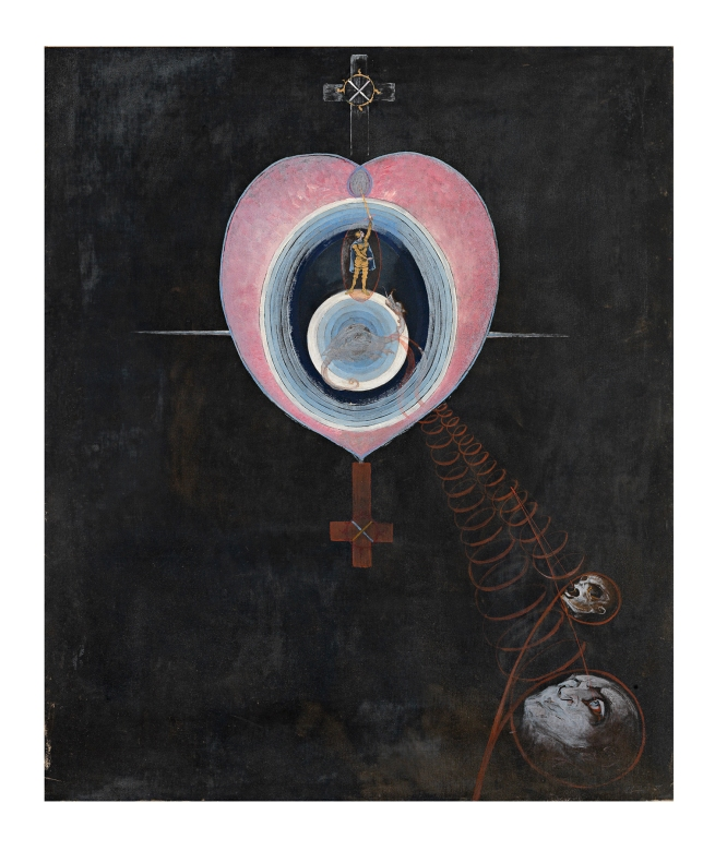 Hilma af Klint (Swedish, 1862-1944) 'The Dove, no. 9' 1915