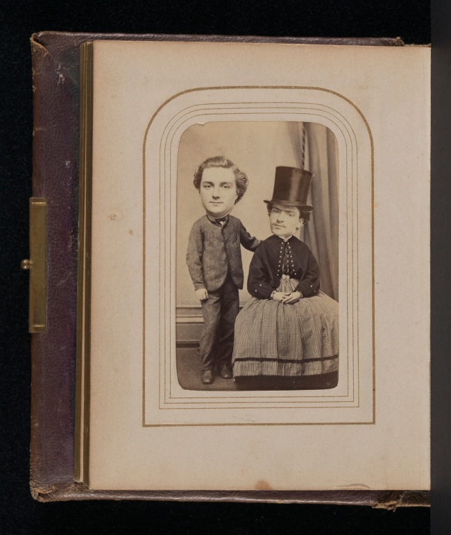 Unknown artist. '[Carte-de-visite Album of Collaged Portraits]' 1850s-60s