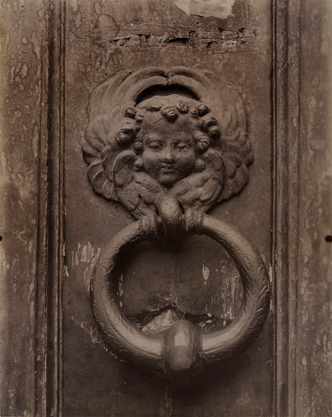 Eugène Atget (French, 1857-1927) 'Heurtoir, St. Étienne du Mont (Cherub Door Knocker)' 1909