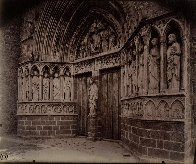 Eugène Atget (French, 1857-1927) 'Le Portail de l'église Saint-Éliphe, Rampillon (Seine-et-Marne)' 1921