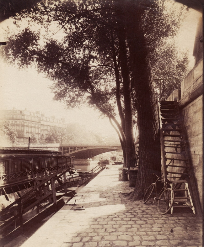 Eugène Atget (French, 1857-1927) 'Quai d'Anjou, Paris' 1910