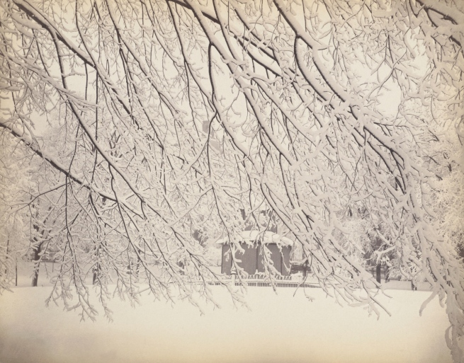 Attributed to Josiah Johnson Hawes (American, Wayland, Massachusetts 1808 - 1901 Crawford Notch, New Hampshire) Winter on the Common, Boston' 1850s