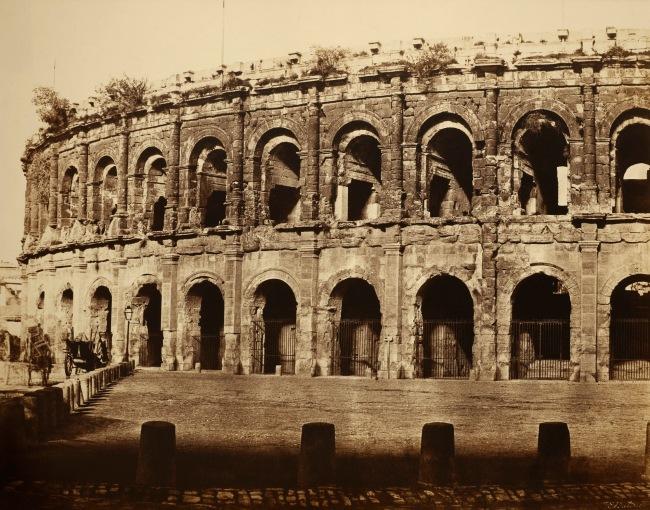Edouard Baldus (French (born Prussia), 1813-1889) '[Amphitheater, Nîmes]' c. 1853