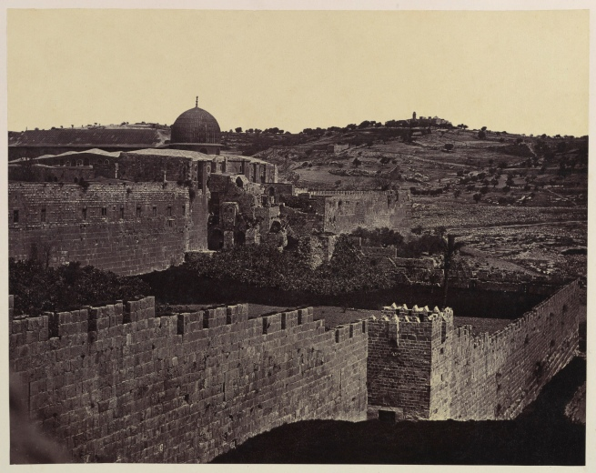 Felice Beato (British (born Italy), Venice 1832-1909 Luxor) and James Robertson (British, 1813-1881) [Dome of the Rock, Jerusalem] 1856-57